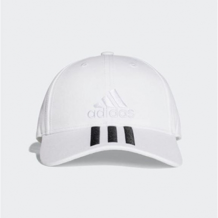 adidas 6-Panel Classic 3-Stripes Cap 帽子 棒球帽 老帽 白 BK0806►CLASSICK